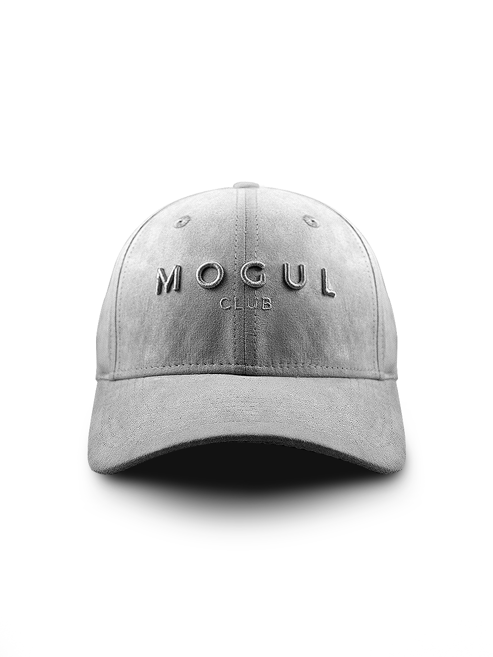 Luxe Suede Baseball Cap Grey - Mogul Club 365eaf6a5a2